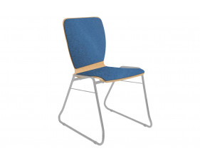 Pack of 4 Cooper Sled Base Chairs With Upholstered Seat & Back