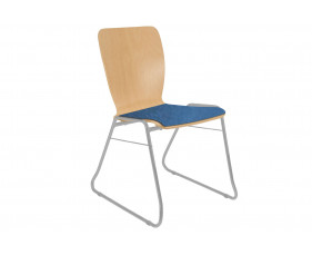 Pack of 4 Cooper Sled Base Chairs With Upholstered Seat