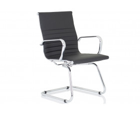 Besos Bonded Leather Visitor Chair (Black)