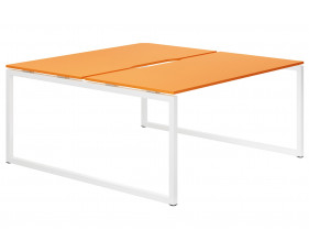 Next-Day Campos Hooped Leg 2 Person Back To Back Bench Desk (Orange)