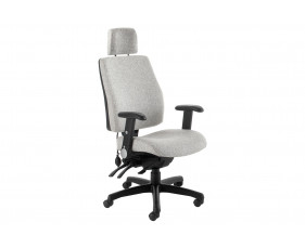 Indre High Back Operator Chair With Headrest & Folding Arms