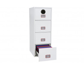 Phoenix World Class Vertical FS2254F Fire File 4 Drawers With Fingerprint Lock