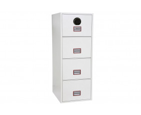 Phoenix World Class Vertical FS2264F Fire File 4 Drawers With Fingerprint Lock