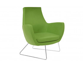 Layla Low Lounge Chair With Sled Frame