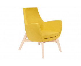 Layla Low Lounge Chair With Wooden Frame