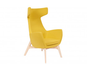 Layla Lounge Chair With Wooden Frame