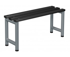 Probe Single Sided Cloakroom Bench (Black Polymer)