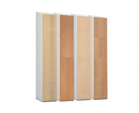 Probe Wood Effect Lockers With Sloping Top