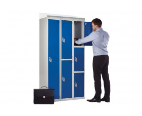 QMP Secure Lockers With Sloping Top
