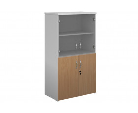 Tandem Glass Top Combination Cupboard