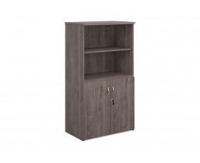 All Grey Oak Open Top Cupboards