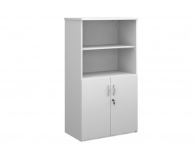 All White Open Top Cupboards
