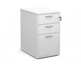 All White Desk High Pedestal