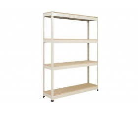 Rapid 1 Heavy Duty Shelving With 4 Chipboard Shelves 1220wx1980h (Grey)