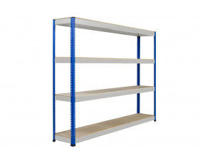 Rapid 1 Heavy Duty Shelving With 4 Chipboard Shelves 2134wx2440h (Blue/Grey)
