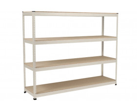 Rapid 1 Heavy Duty Shelving With 4 Chipboard Shelves 2134wx2440h (Grey)