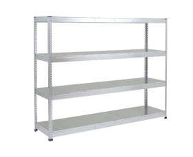 Rapid 1 Heavy Duty Shelving With 4 Galvanized Shelves 2134wx2440h (Grey)