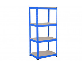 Rapid 1 Standard Shelving With 4 Chipboard Shelves 915wx1980h (Blue)