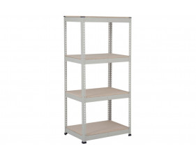Rapid 1 Standard Shelving With 4 Chipboard Shelves 915wx1980h (Grey)
