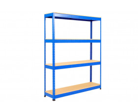Rapid 1 Standard Shelving With 4 Chipboard Shelves 1525wx1980h (Blue)