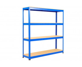Rapid 1 Standard Shelving With 4 Chipboard Shelves 1525wx2440h (Blue)