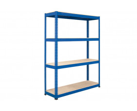 Rapid 1 Standard Shelving With 4 Chipboard Shelves 1830wx2440h (Blue)