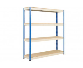 Rapid 1 Standard Shelving With 4 Chipboard Shelves 1830wx2440h (Blue/Grey)