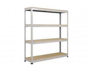 Rapid 1 Standard Shelving With 4 Chipboard Shelves 1830wx2440h (Grey)