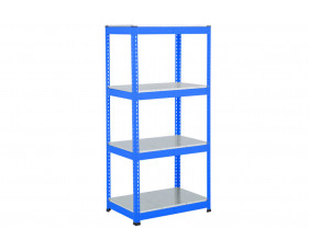 Rapid 1 Heavy Duty Shelving With 4 Galvanized Shelves 915wx1980h (Blue)