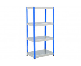 Rapid 1 Heavy Duty Shelving With 4 Galvanized Shelves 915wx1980h (Blue/Grey)