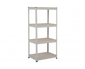 Rapid 1 Heavy Duty Shelving With 4 Chipboard Shelves 915wx1980h (Grey)