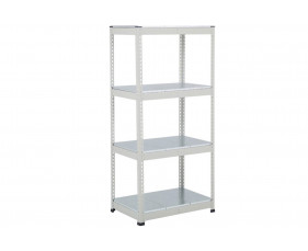 Rapid 1 Heavy Duty Shelving With 4 Galvanized Shelves 915wx1980h (Grey)