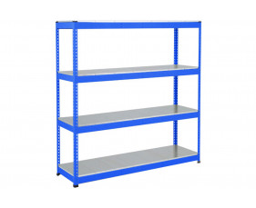 Rapid 1 Heavy Duty Shelving With 4 Galvanized Shelves 1220wx1980h (Blue)