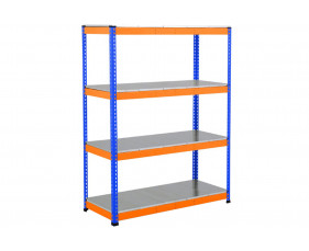Rapid 1 Heavy Duty Shelving With 4 Galvanized Shelves 1525wx1980h (Blue/Orange)