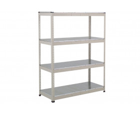 Rapid 1 Heavy Duty Shelving With 4 Galvanized Shelves 1525wx1980h (Grey)