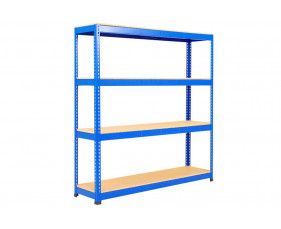 Rapid 1 Heavy Duty Shelving With 4 Chipboard Shelves 1525wx1980h (Blue)