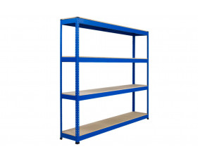 Rapid 1 Heavy Duty Shelving With 4 Chipboard Shelves 1830wx1980h (Blue)
