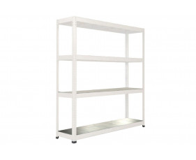Rapid 1 Heavy Duty Shelving With 4 Galvanized Shelves 1830wx1980h (Grey)