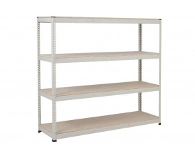 Rapid 1 Heavy Duty Shelving With 4 Chipboard Shelves 2134wx1980h (Grey)