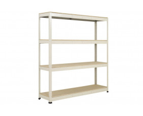 Rapid 1 Heavy Duty Shelving With 4 Chipboard Shelves 1525wx2440h (Grey)