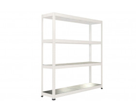 Rapid 1 Heavy Duty Shelving With 4 Galvanized Shelves 1830wx2440h (Grey)