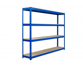 Rapid 1 Heavy Duty Shelving With 4 Chipboard Shelves 2440wx2440h (Blue)