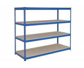 Rapid 1 Heavy Duty Shelving With 4 Chipboard Shelves 2134wx2440h (Blue)