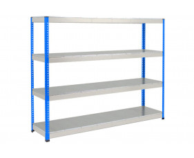 Rapid 1 Heavy Duty Shelving With 4 Galvanized Shelves 2440wx2440h (Blue/Grey)