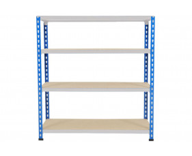Rapid 2 Shelving With 4 Chipboard Shelves 1220wx990h (Blue/Grey)
