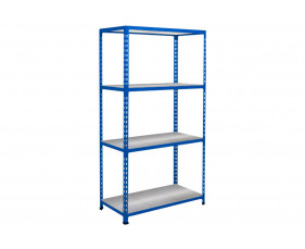 Rapid 2 Shelving With 4 Galvanized Shelves 915wx1600h (Blue)