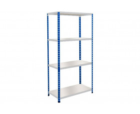 Rapid 2 Shelving With 4 Melamine Shelves 915wx1600h (Blue/Grey)
