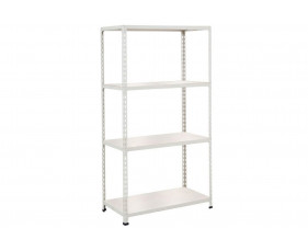 Rapid 2 Shelving With 4 Melamine Shelves 915wx1600h (Grey)