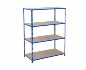 Rapid 2 Shelving With 4 Chipboard Shelves 1220wx1600h (Blue)