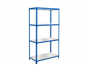 Rapid 2 Shelving With 4 Melamine Shelves 1220wx1600h (Blue)